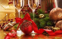 Kerstwijnglazenkerstballen