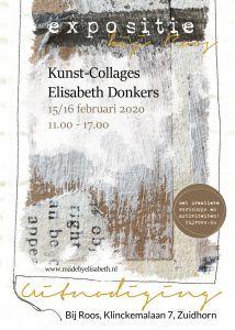Expositie kunstcollage elisabethdonkers 15 16 februari
