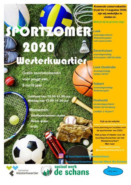 Poster sportzomer 2020 leek versie 2