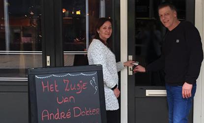 Restaurant Het Zusje van André Dokter in de Oosterstraat heropent  22 februari haar deuren
