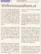 Welkominzuidhornindepers 2005 dagbladnovember