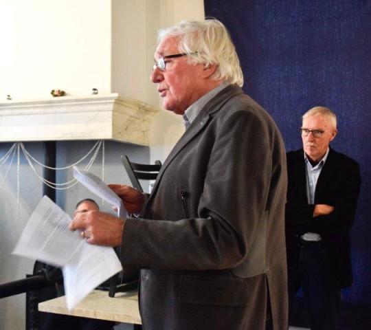 Pieter bootsma tijdens zijn afscheidsspeech