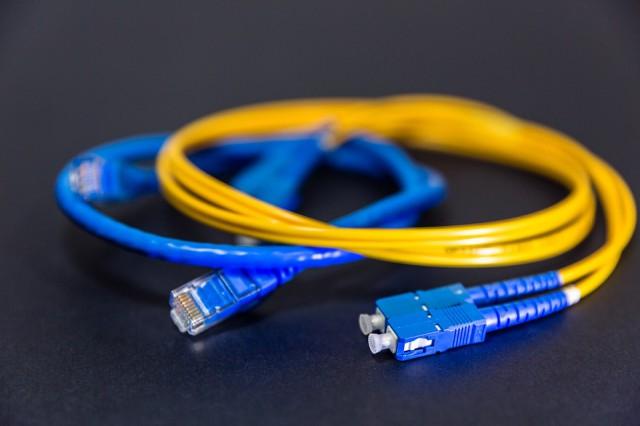 Glasvezel netwerk kabel