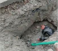 Graven in de grond