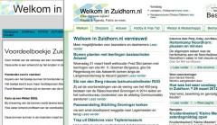 Welkom in Zuidhorn website vernieuwd