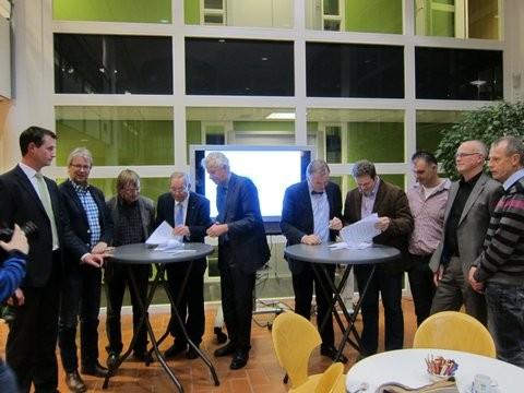 Ondertekening overeenkomst gebiedscooperatie westerkwartier 19dec2012