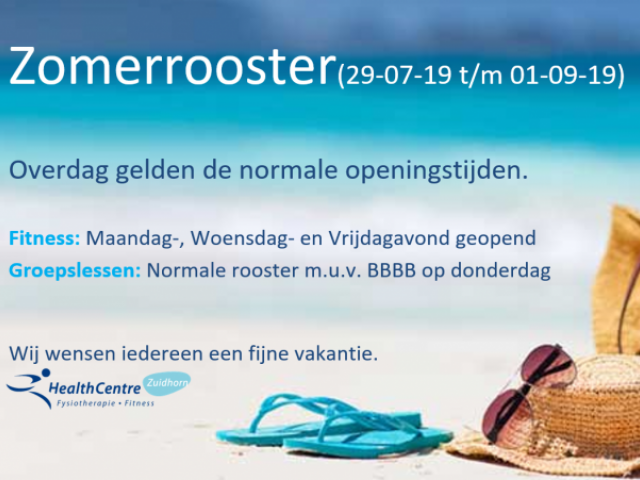 Zomerrooster Health Centre Zuidhorn