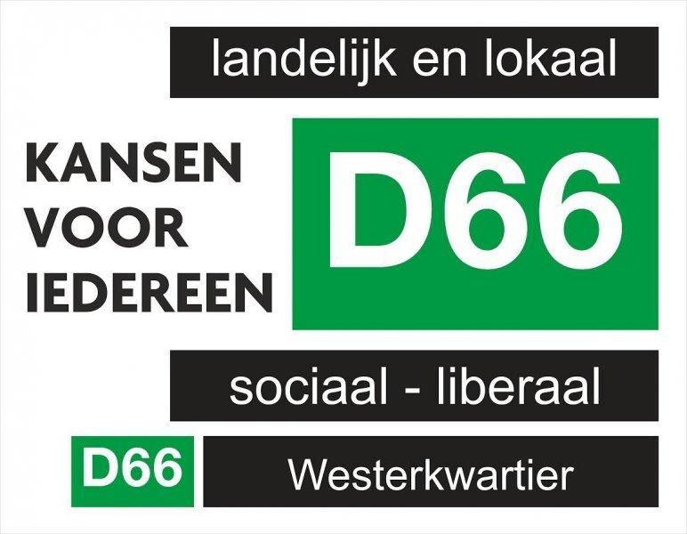 Reclamedoek d66-westerkwartier