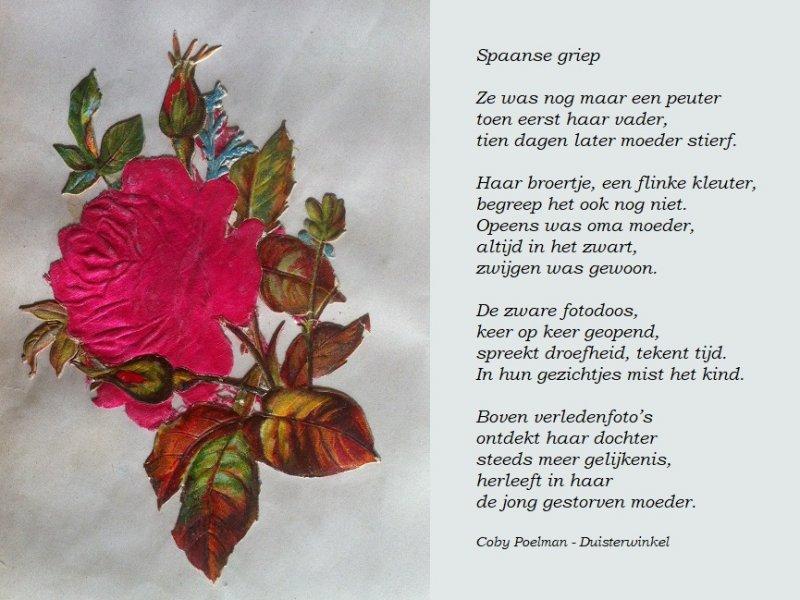 Spaanse griep poezieplaatje