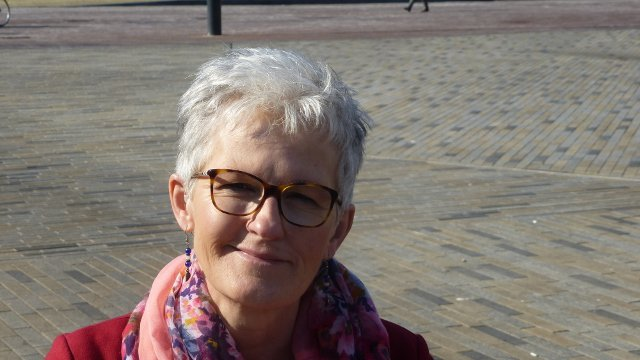 Foto piety grijs haar en profile